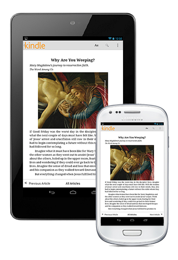 The Word Among Us Kindle Edition for Android - Articles