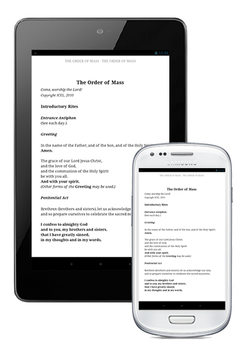 The Word Among Us Kindle Edition for Android - Order of Mass