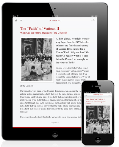 The Word Among Us App - Article Screen