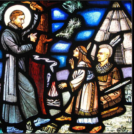 Of Strong Heart: The story of St. Isaac Jogues' work among the Huron and Iroquois tribes—and his martyrdom