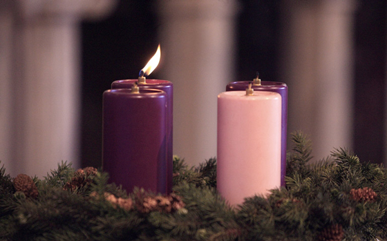 "Come to the Father: This Advent and Christmas season,  let yourself ""be encircled by the arms of the mystery of God."""