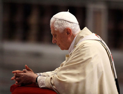 Pope Benedict Announces His Resignation: Thank you, Pope Benedict, for your many years of faithful service to the Church.