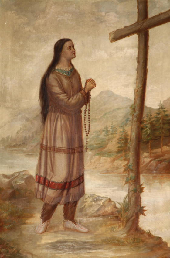 Glowing in the Warmth of a Sacred Fire: The Story of St. Kateri Tekakwitha by Ann Bottenhorn