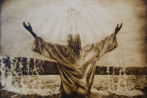 """Baptism of the Lord: """"This is my beloved Son, with whom I am well pleased."""" (Matthew 3:17)"""