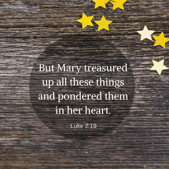 Pondering the Christmas Story with Mary: Like Mary, let us fix our gaze on God's work of salvation and let its beauty and mystery unfold in us more and more.