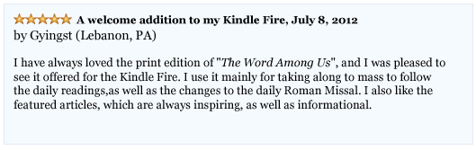The Word Among Us Kindle - User Gyingst Reviews