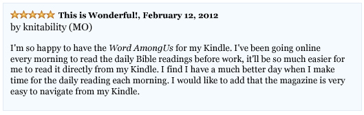 The Word Among Us Kindle - User Knitability Reviews