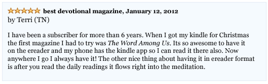 The Word Among Us Kindle - User Terri Reviews