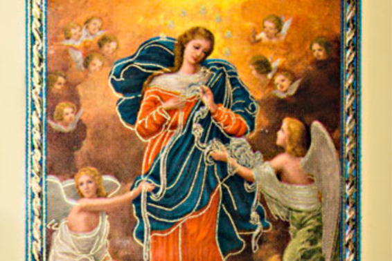 Our Lady Undoer of Knots: Ask Mary to untangle the knots, and help you trust in God's mercy. by Woodeene Koenig-Bricker