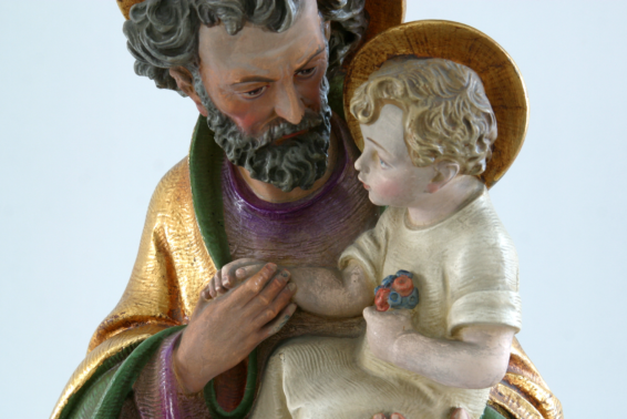 Safe in Saint Joseph's Arms: In St. Joseph, we see a little bit of God the Father.  by Dorothy Ranaghan