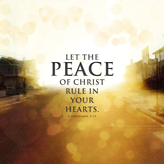 Let the Peace of Christ Reign in Your Heart: Meditations on finding the peace of the Lord in everyday life​​ by Heidi Bratton